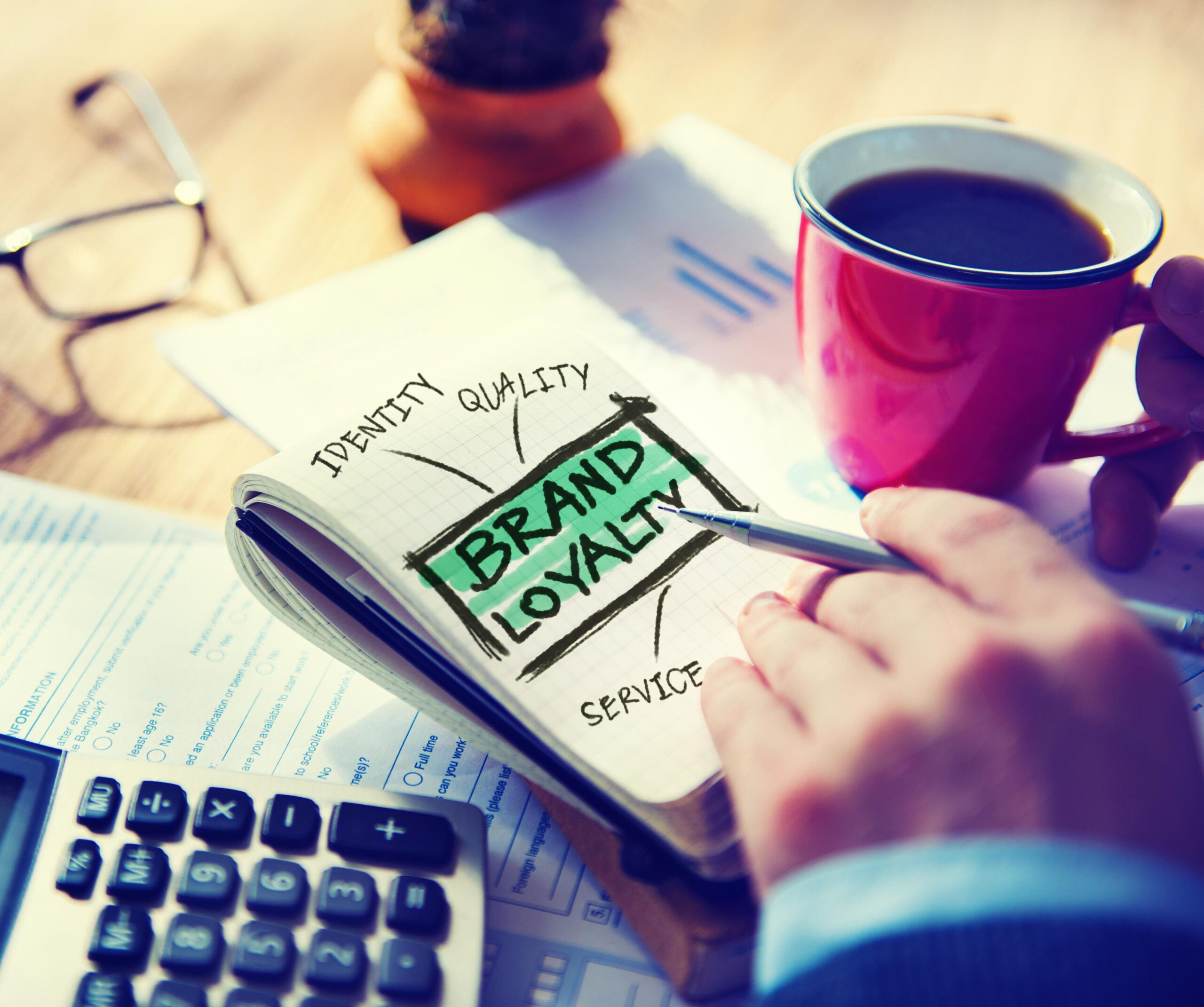 Loyalty Marketing Branding Working Accounting Concept