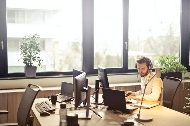 How to Connect with Your Customers, man working at desk